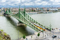 Liberty Bridge in Budapest Royalty Free Stock Photo