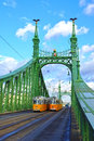 Liberty bridge budapest hungary Stock Photography