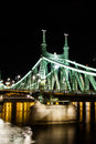 Liberty bridge in budapest by night Stock Images