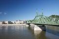 Liberty Bridge or Freedom Bridge across the Danube in Budapest Royalty Free Stock Photo