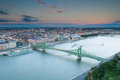 Liberty bridge gellert hill budapest hungary Royalty Free Stock Photography