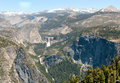 Liberty Cap, Nevada Falls and Vernal Falls Royalty Free Stock Images
