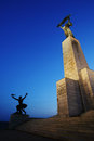 The liberty monument in budapest sometimes freedom at night Royalty Free Stock Photos