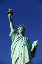 The Liberty Statue with clear sky Royalty Free Stock Photo