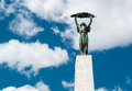 Liberty statue freedom in budapest hungary Royalty Free Stock Photos