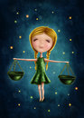 Libra astrological sign girl Royalty Free Stock Photo