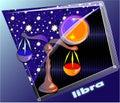 Libra de Astro Fotografia de Stock