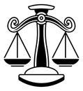 Libra Scales Horoscope Zodiac Sign Royalty Free Stock Photo