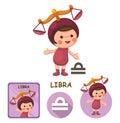 Libra vector collection. zodiac signs Royalty Free Stock Photo