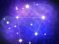 Libra zodiac sign bright stars in cosmos Royalty Free Stock Image