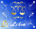 Libra zodiac star sign Royalty Free Stock Images