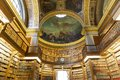 The library at the assemblee nationale paris france with painted roofs by delacroix home of french parliament in hotel de lassay Royalty Free Stock Photos