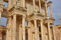 Library of celsus the in ephesos turkey detail showing the double height columns with niches for statues Stock Photo