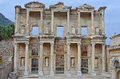 The library of celsus in ephesos turkey one best preserved examples an ancient roman building with strong greek Stock Images