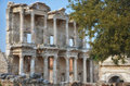 Library of celsus ephesus the façade the in turkey Stock Image