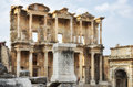 Library of celsus ephesus the and gate augustus in turkey Royalty Free Stock Photos