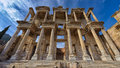 Library of celsus ruins ancient ephesus in turkey Royalty Free Stock Photo