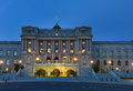 Library of Congress building at night, Washington DC United States Royalty Free Stock Photo