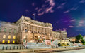 The Library of Congress building in Washington DC at night Royalty Free Stock Photo