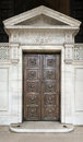 Library door in new york city Stock Images