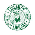 Library grunge rubber stamp Royalty Free Stock Photo
