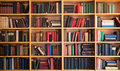 Library bookcase Royalty Free Stock Photo