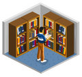Library Isometric Royalty Free Stock Photos