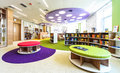 Library photo of books in a row in july kiev ukraine opening of novopecherskaya school new shool with super modern building Stock Photography