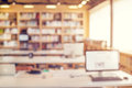 Library room interior blur background Royalty Free Stock Photo