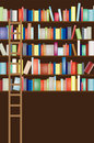 Library shelf full Royalty Free Stock Image