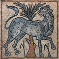 Libya Cyrenaica Byzantine mosaic leopard Royalty Free Stock Photo