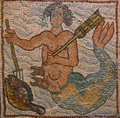 Libya Cyrenaica Byzantine mosaic. Royalty Free Stock Photo