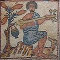 Libya Cyrenaica Byzantine mosaic musician Royalty Free Stock Photo