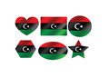 Libya flag themes idea design an images Royalty Free Stock Image