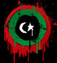Libya grunge flag Royalty Free Stock Image