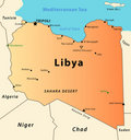 Libya map Stock Photo