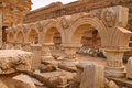 Libya Tripoli Leptis Magna Roman archaeological site. - UNESCO site. Royalty Free Stock Photo