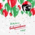 Libya Vector Patriotic Poster. Independence Day.