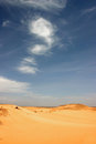 Libyan desert sandy and deserted landscape in the Stock Image