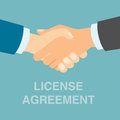 License agreement handshake.