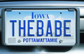 License Plate   in  Iowa Stock Photography