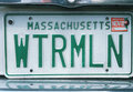 License Plate   in  Massachusetts Stock Photography