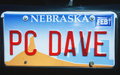 License Plate  in Nebraska Royalty Free Stock Photo