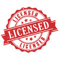 Licensed product stamp vector illustration Stock Photos