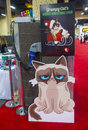 Licensing expo las vegas june the grumpy cat booth at the in las vegas nevada on june is the industry s Stock Photo