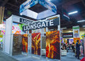 Licensing expo las vegas june the lionsgate booth at the in las vegas nevada on june is the industry s Stock Images