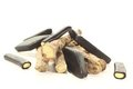 Licorice root with liqorice Royalty Free Stock Images