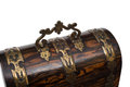 Lid Handle of a Vintage Wooden Jewelry Box Royalty Free Stock Photo