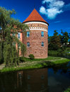 Lidzbark Warminski Castle-Tower Stock Photo