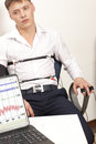 Lie detector a man passes a test Royalty Free Stock Photography